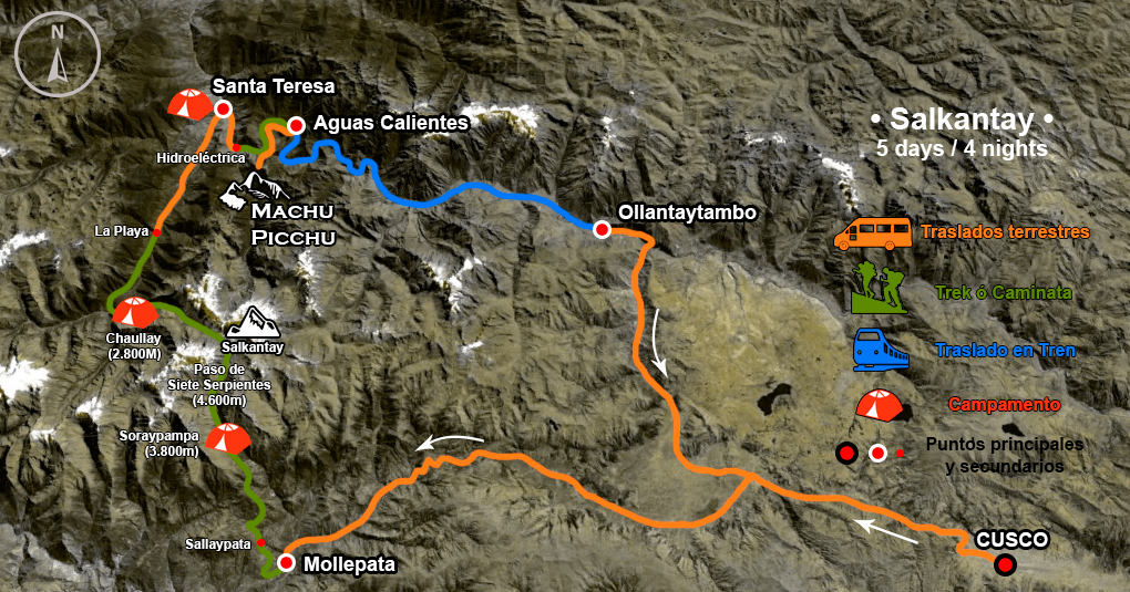 salkantay-5days-map