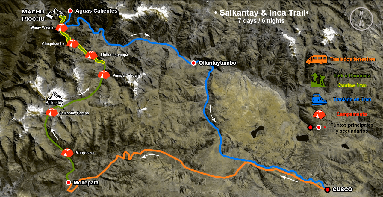 salkantay-7days-map